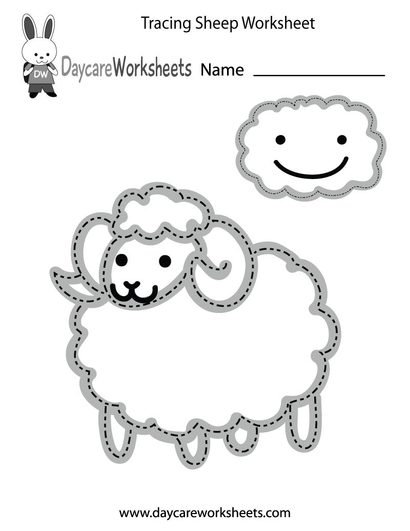 Free Preschool Tracing Sheep Worksheet - Free Printable Fine Motor Skills Worksheets