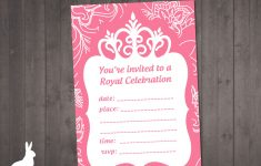 Free Princess Printable Invitations
