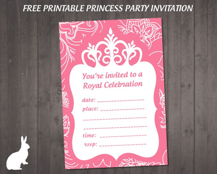 Free Princess Printable Invitations