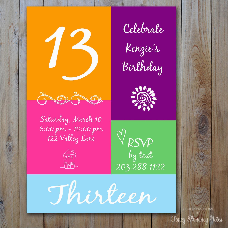 Free Printable 13Th Birthday Party Invitations | Birthdaybuzz - 13Th Birthday Party Invitations Printable Free