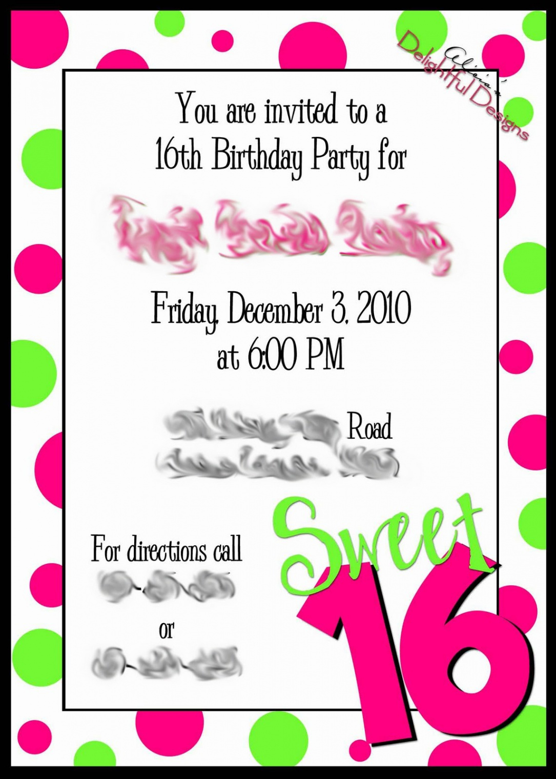 Free Printable 16Th Birthday Party Invitation Templates Luxury - Free Printable 16Th Birthday Party Invitation Templates