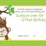 Free Printable 1St Monkey Birthday | Birthday Invitation For Kids   Free Printable Monkey Birthday Party Invitations