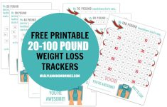Free Printable 20-100 Pound Weight Loss Trackers – Meal Planning Mommies – Printable Weight Loss Charts Free