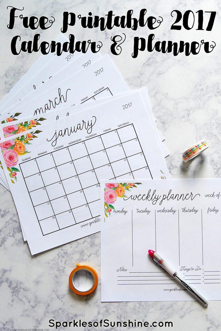 Free Printable Planner 2017 2018