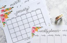 Free Printable 2017 Monthly Calendar And Weekly Planner – Free Printable Planner 2017