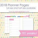 Free Printable 2018 Blank Planner Pages | Pumpkingirl Designs   Free 2018 Planner Printable