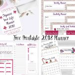 Free Printable 2018 Planner  35+ Pages!   Free 2018 Planner Printable