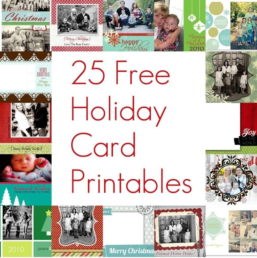Free Printable 4×6 Christmas Photo Cards – Festival Collections - Free Printable Photo Cards 4X6