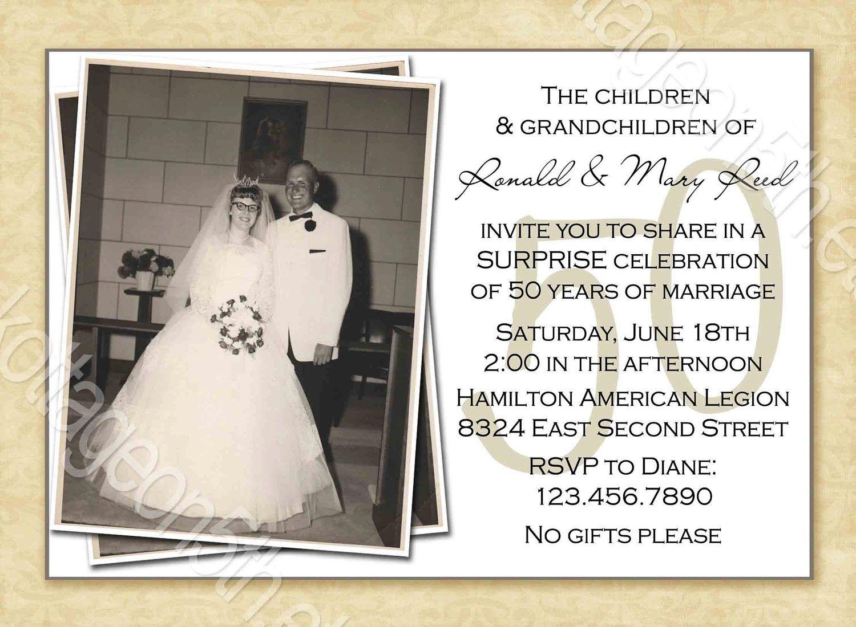 Free Printable 50Th Wedding Anniversary Invitation Templates | 50Th - Free Printable 60Th Wedding Anniversary Invitations