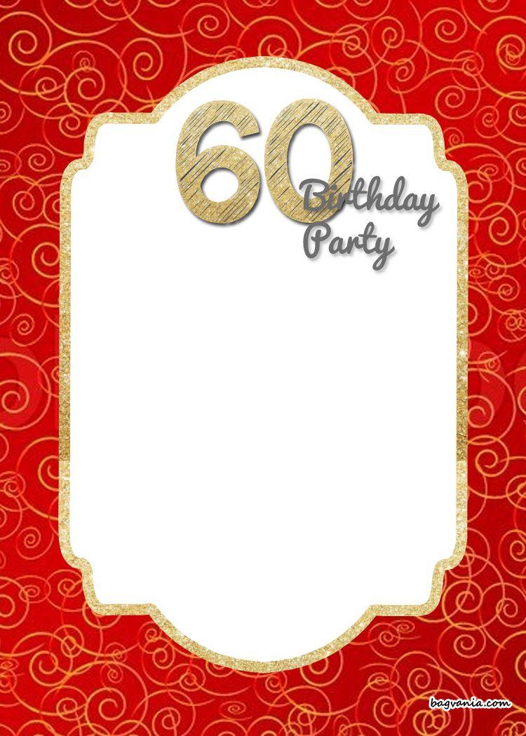 Free Printable 60Th Birthday Invitation | Como Deco | Birthday - Free Printable Surprise 60Th Birthday Invitations