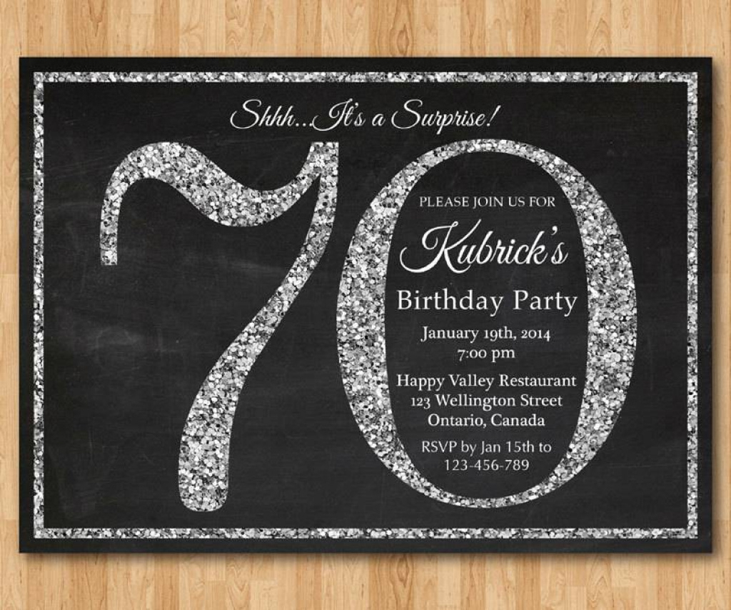 Free Printable 70Th Birthday Invitations Templates Simple 70Th With - Free Printable 70Th Birthday Party Invitations