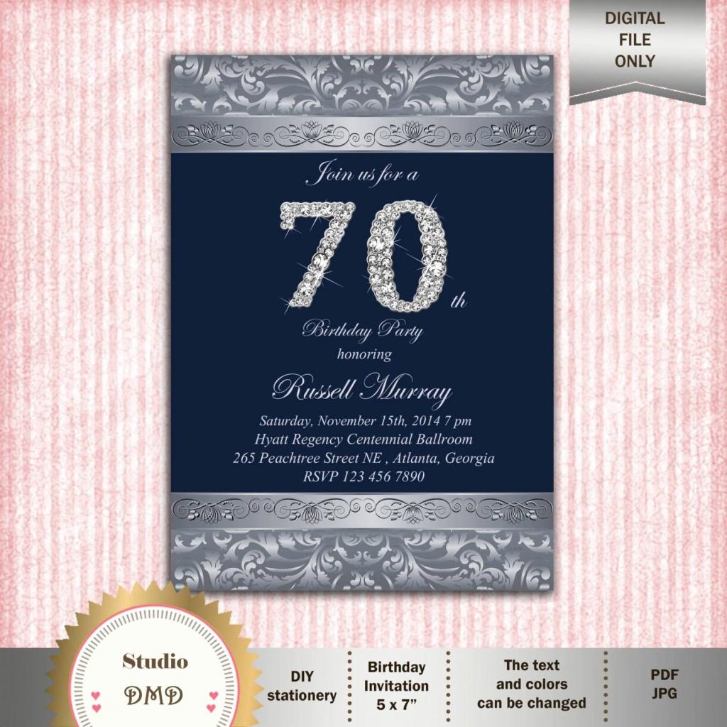 Free Printable 70Th Birthday Party Invitations Elegant 25 New Email - Free Printable 70Th Birthday Party Invitations