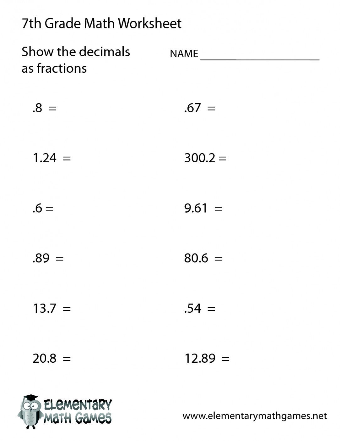Free Printable 7Th Grade Math Worksheets | Lostranquillos - Free Printable 7Th Grade Math Worksheets