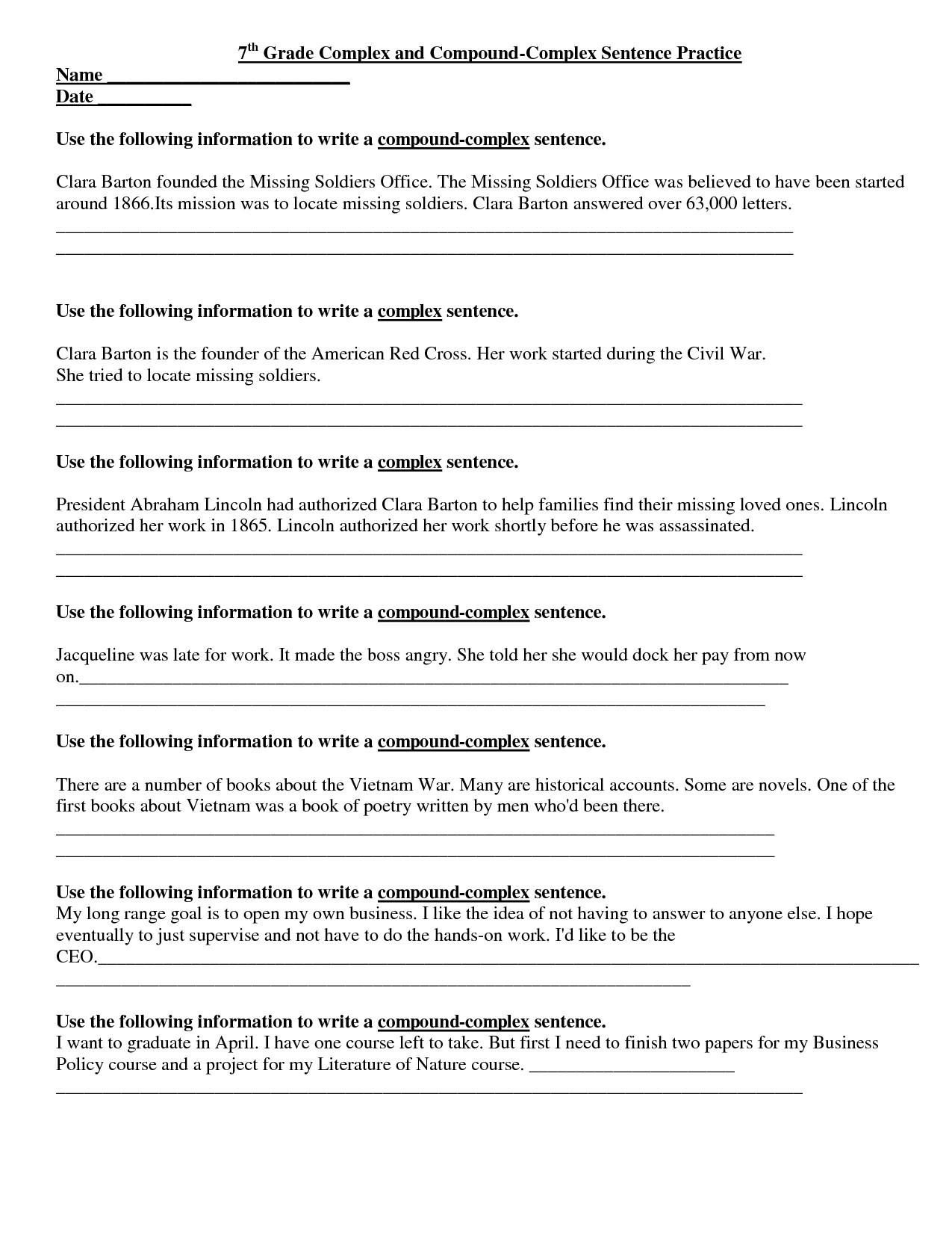 Free Printable 7Th Grade Reading Comprehension Worksheets Free - 7Th Grade Worksheets Free Printable