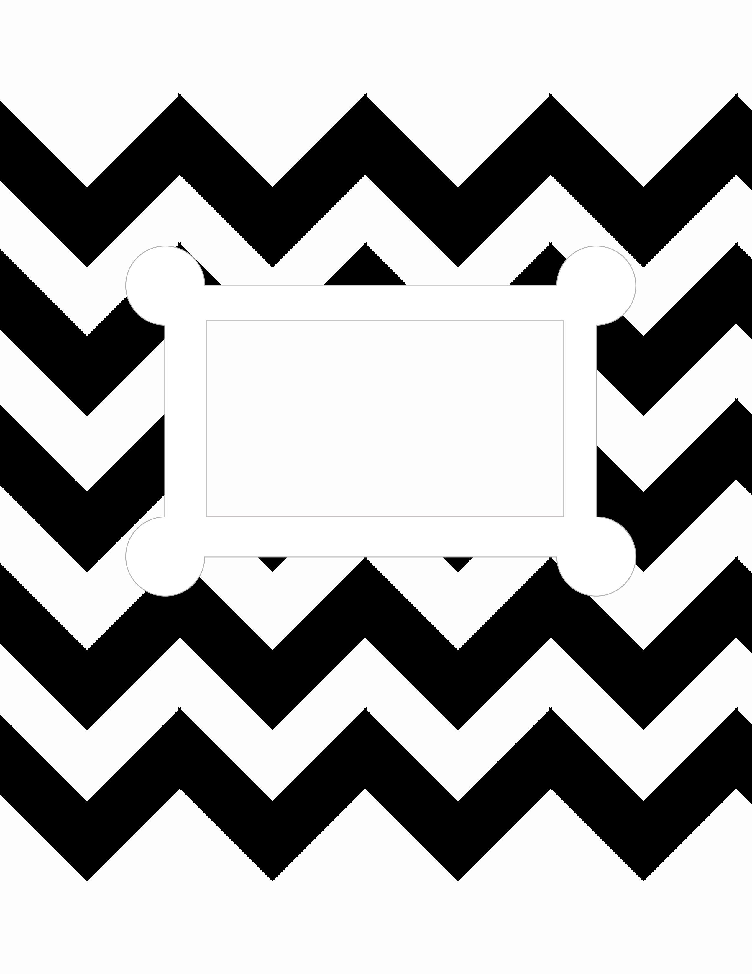 Free Printable. 8.5 X 11, Letter Size, Binder Cover Template. Black - Free Printable Binder Cover Templates