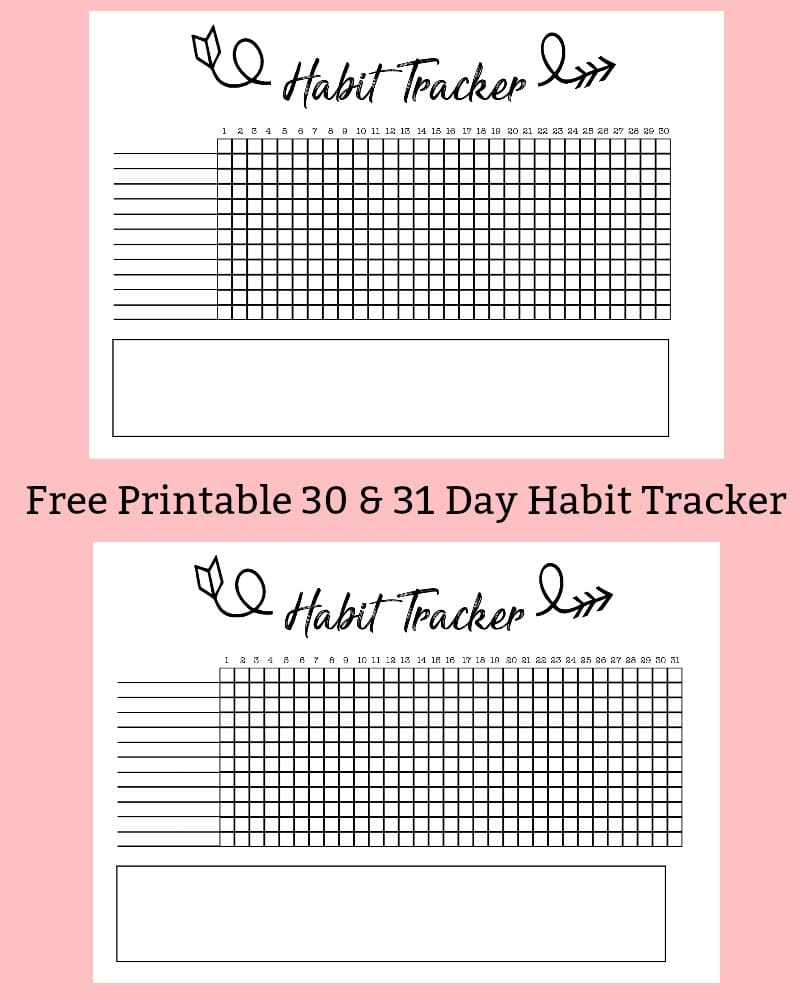 Free Printable A5 Habit Tracker - The Petite Planner - Habit Tracker Free Printable