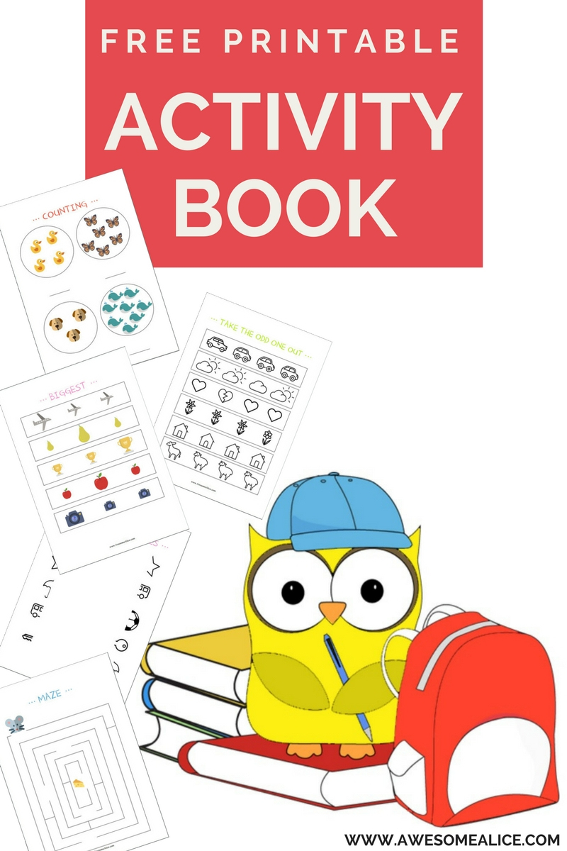 Free Printable Activity Book. Learn Numbers, Letters, Sizes And Much - Free Printable Stories For Preschoolers