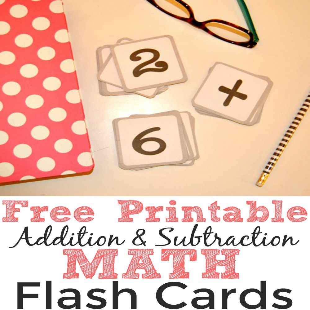 Free Printable Addition And Subtraction Math Flash Cards - Simple - Free Printable Addition Flash Cards