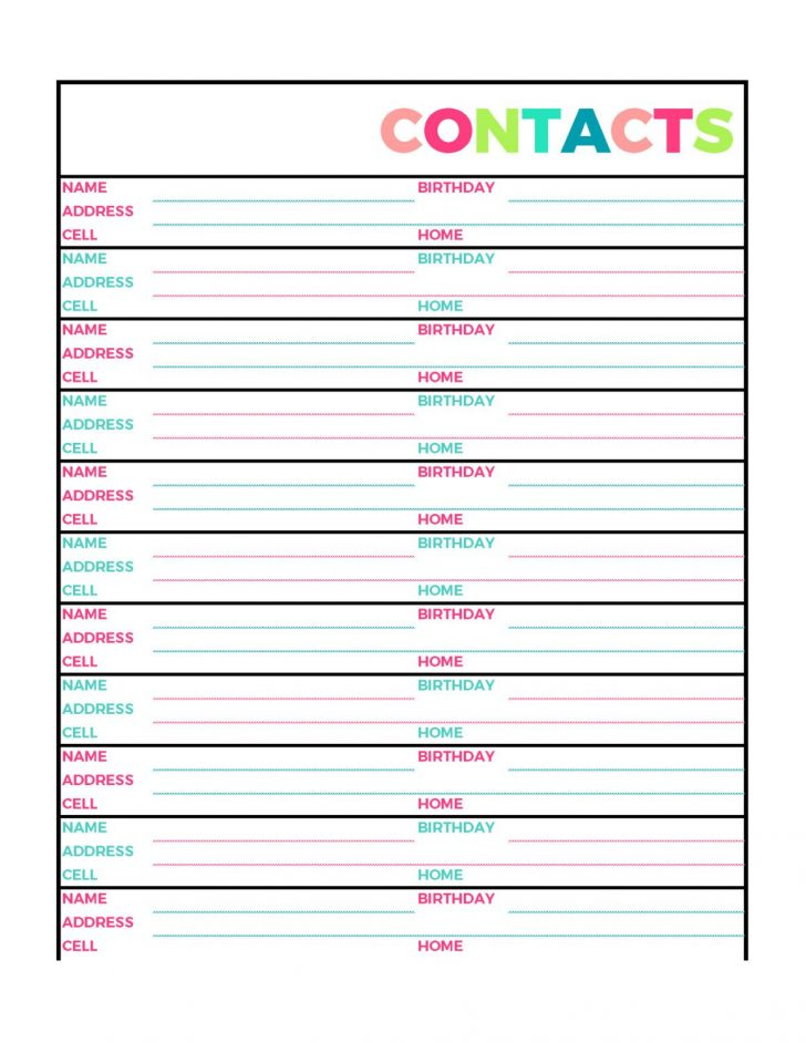 Free Printable Address Book Pages