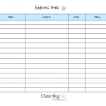 Free Printable Address Book Software With Pages Template Plus   Free Printable Address Book Pages