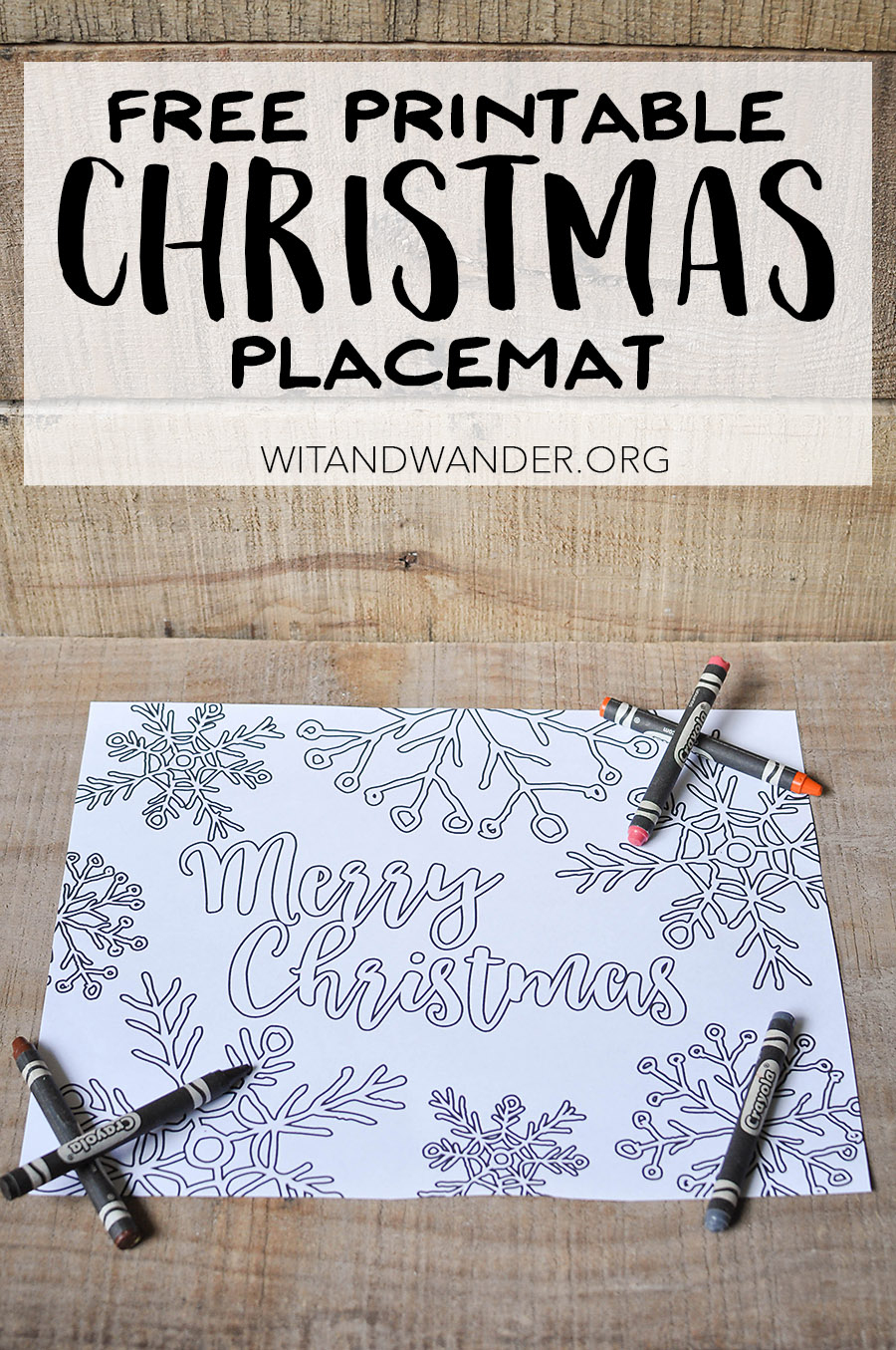 Free Printable Adult Coloring Page - Christmas Placemat - Our - Free Printable Christmas Placemats For Adults