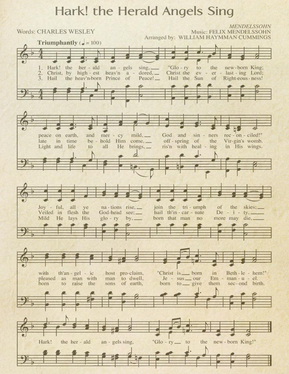 "Free Printable ""Aged"" Music Sheets | Celebrating Holidays - Free Printable Sheet Music"