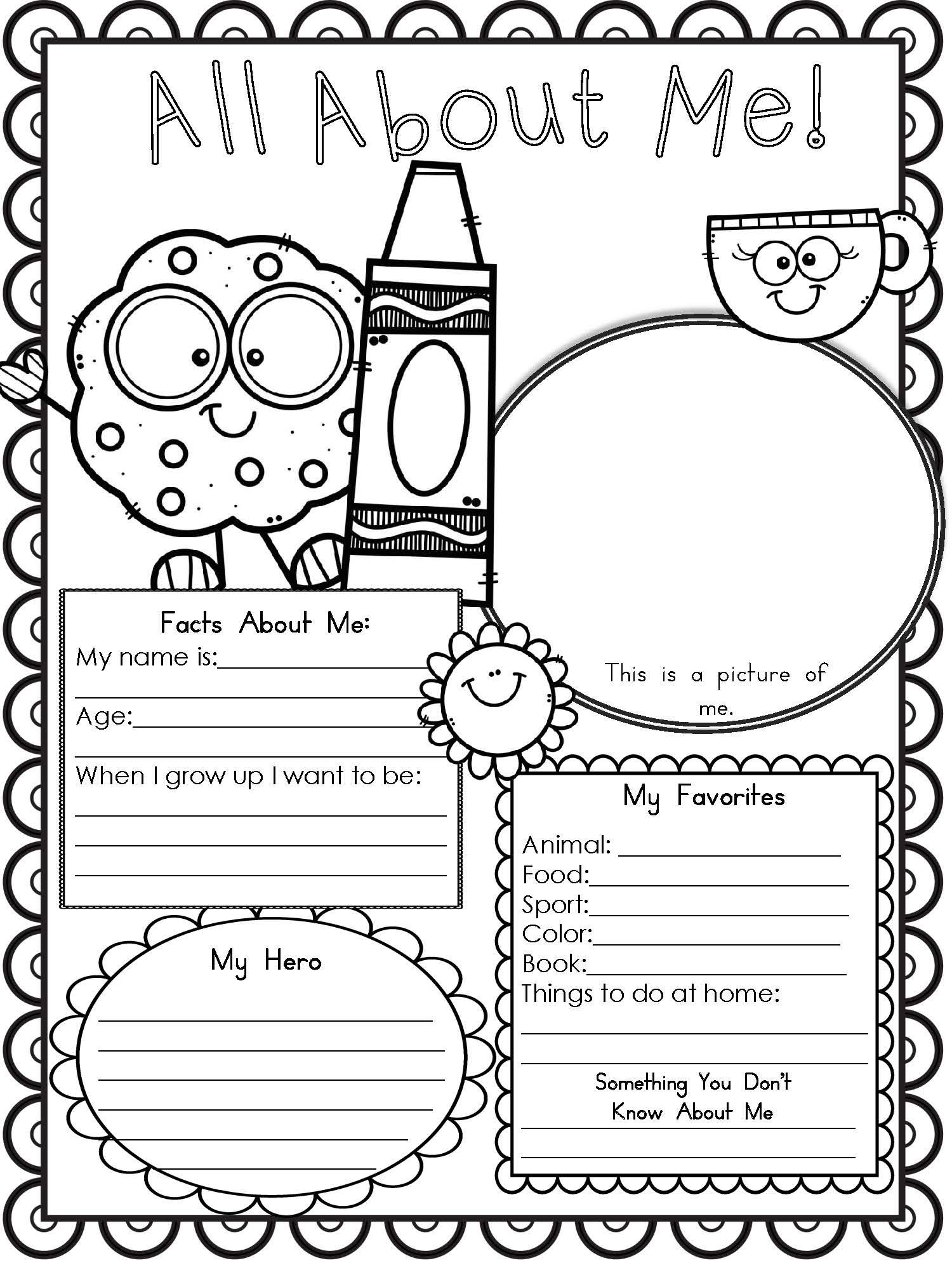 Free Printable All About Me Worksheet - Modern Homeschool Family - All About Me Free Printable