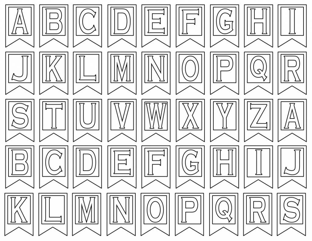 Free Printable Alphabet Banner For Bulletin Board - 20.17 - Free Printable Bulletin Board Letters