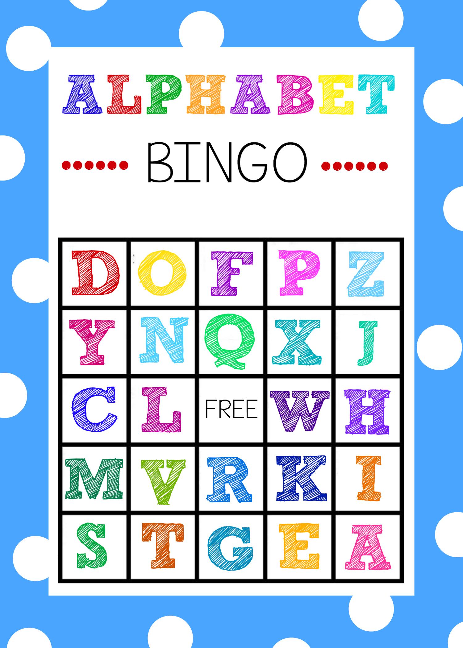 Free Printable Alphabet Bingo Game - Free Printable Bingo Games