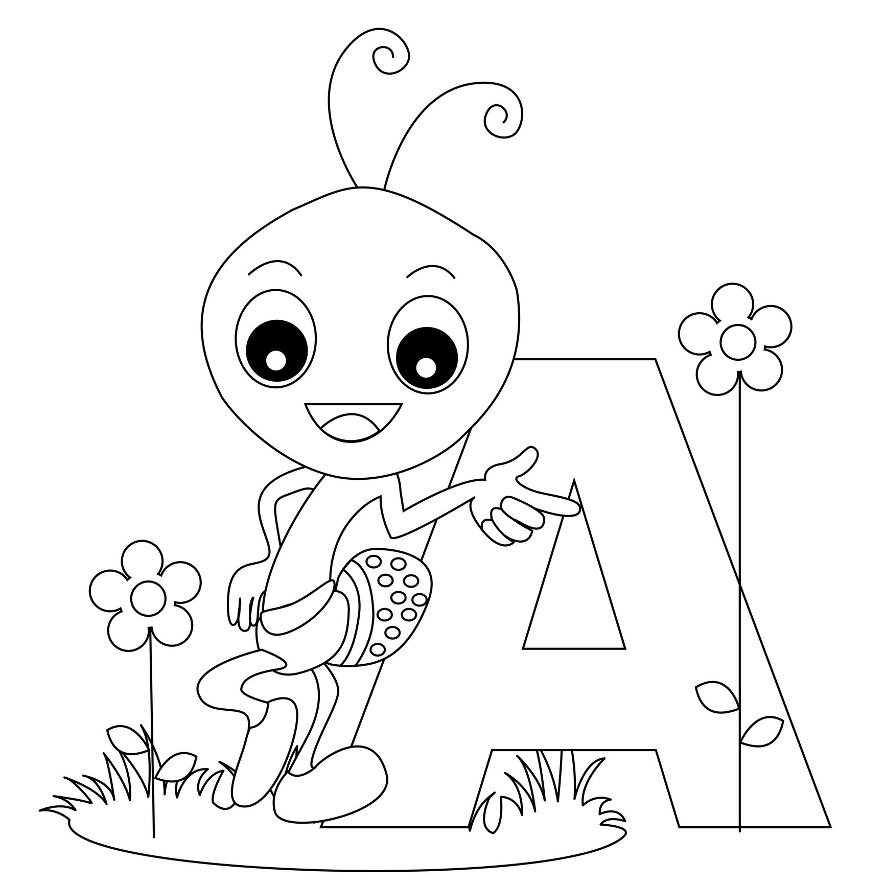 Free Printable Alphabet Coloring Pages For Kids - Best Coloring - Free Printable Alphabet Letters Coloring Pages