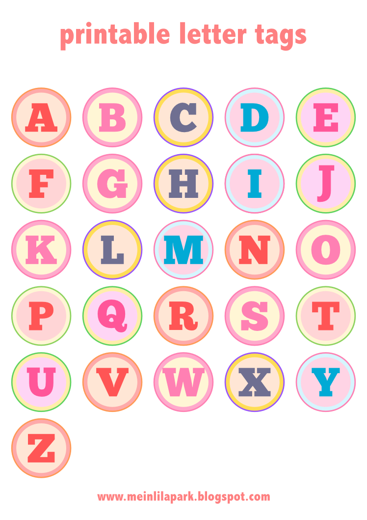 Free Printable Alphabet Letter Tags – Diy Buchstaben Sticker - Free Printable Cabochon Templates