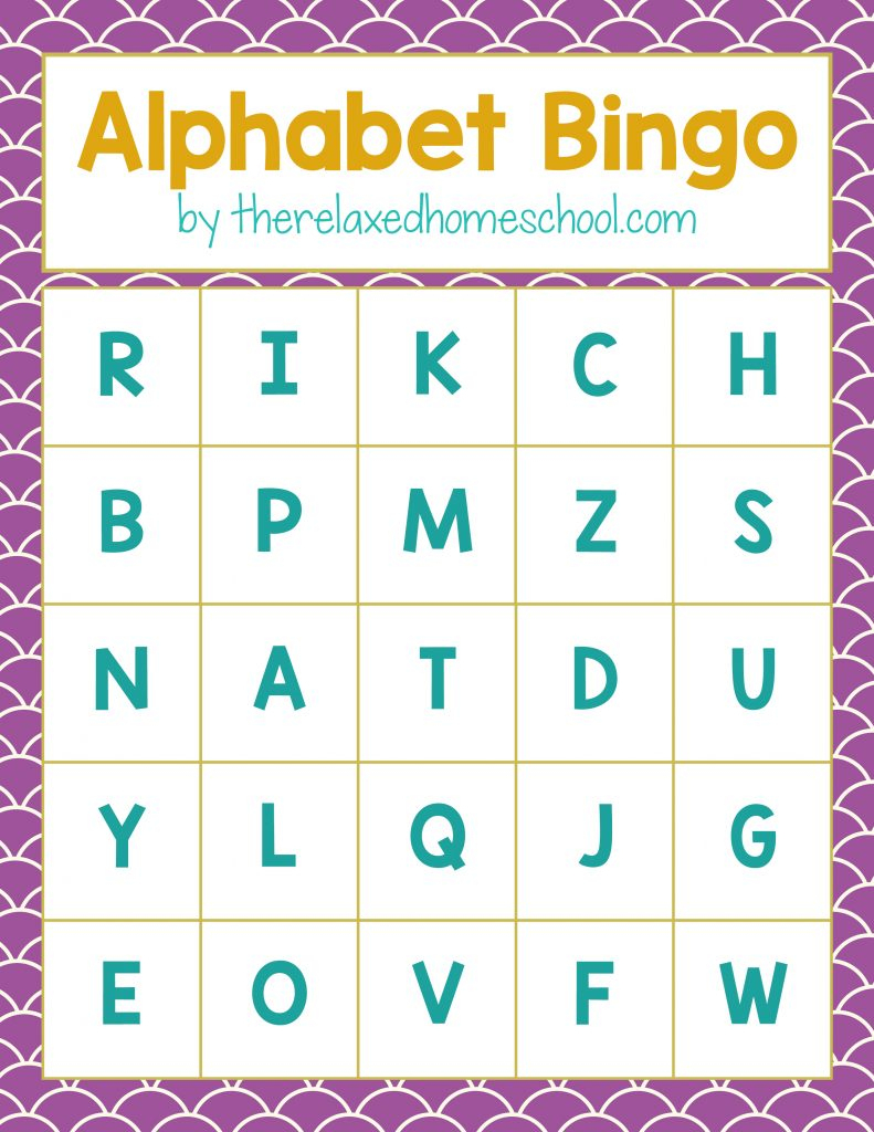 Free Printable! Alphabet Letters Bingo Game - Download Here! - Free Printable Alphabet Cards With Pictures