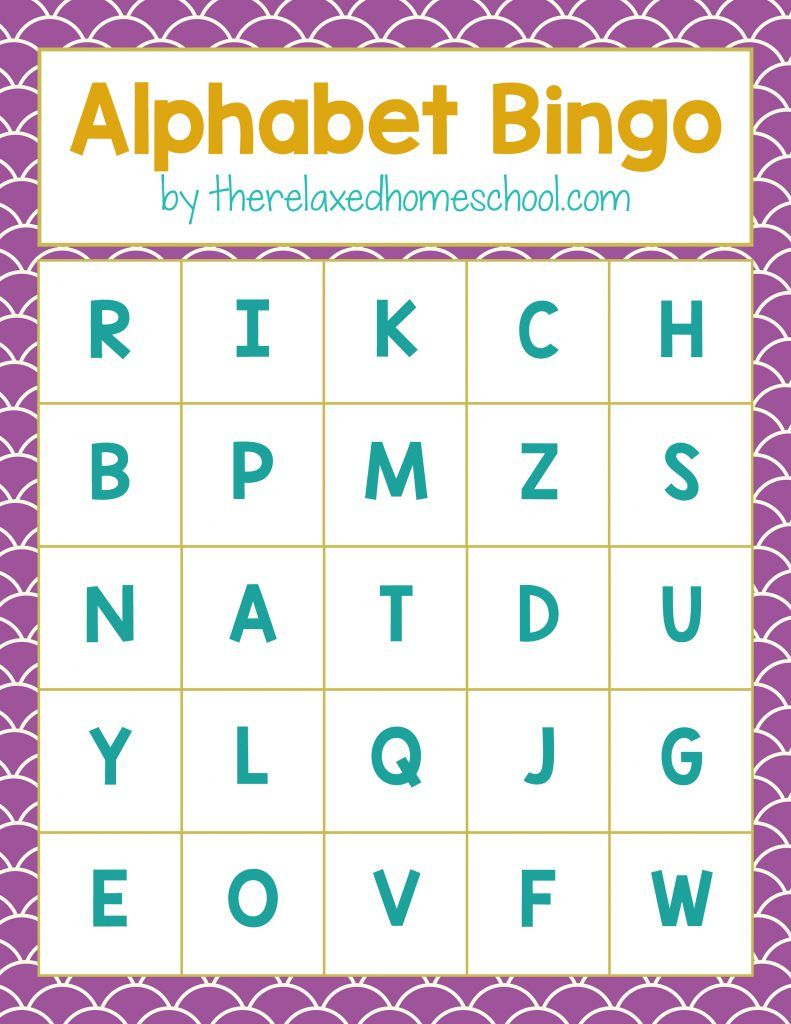 Free Printable! Alphabet Letters Bingo Game - Download Here - Free Printable Alphabet Games