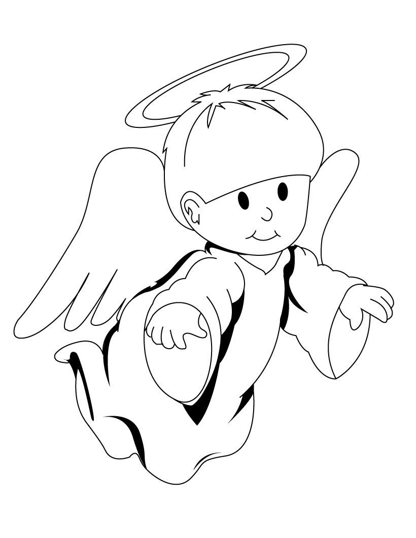 Free Printable Angel Coloring Pages For Kids - Clipart Best - Free Printable Pictures Of Angels