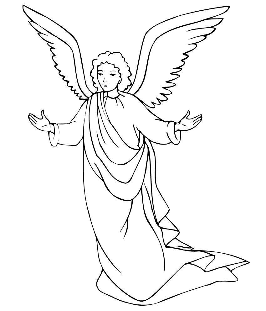 Free Printable Angel Coloring Pages For Kids | Printables | Angel - Free Printable Pictures Of Angels