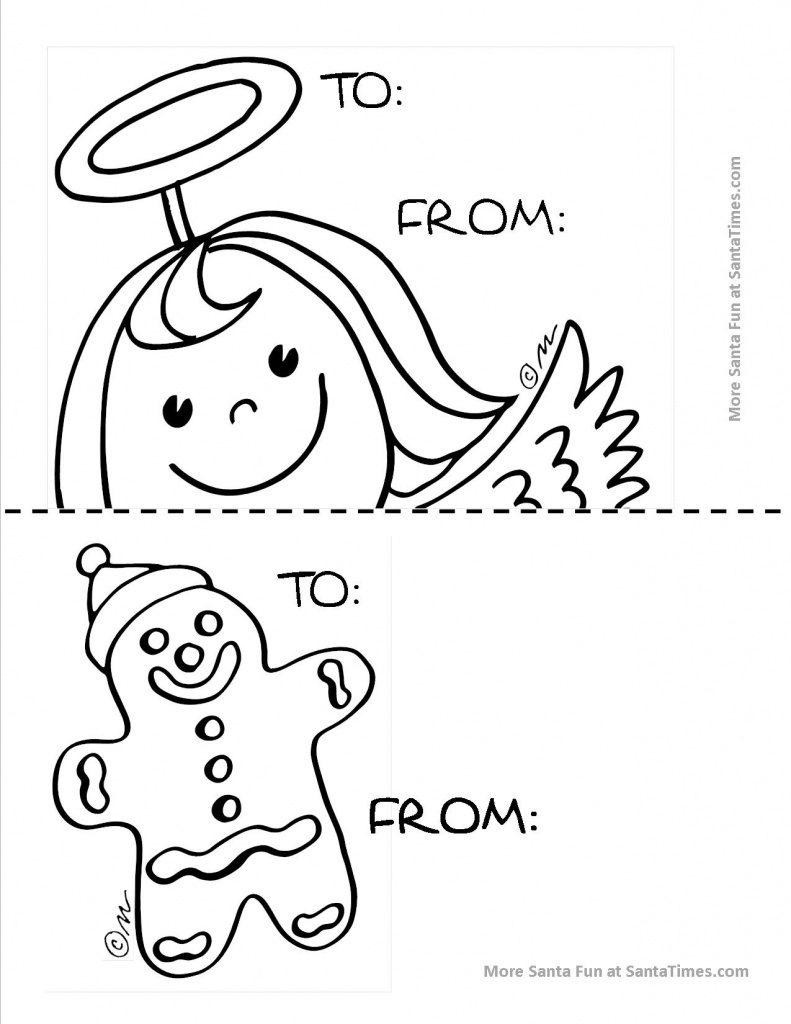 Free Printable Angel Gift Tags | Free Printable - Free Printable Angel Gift Tags