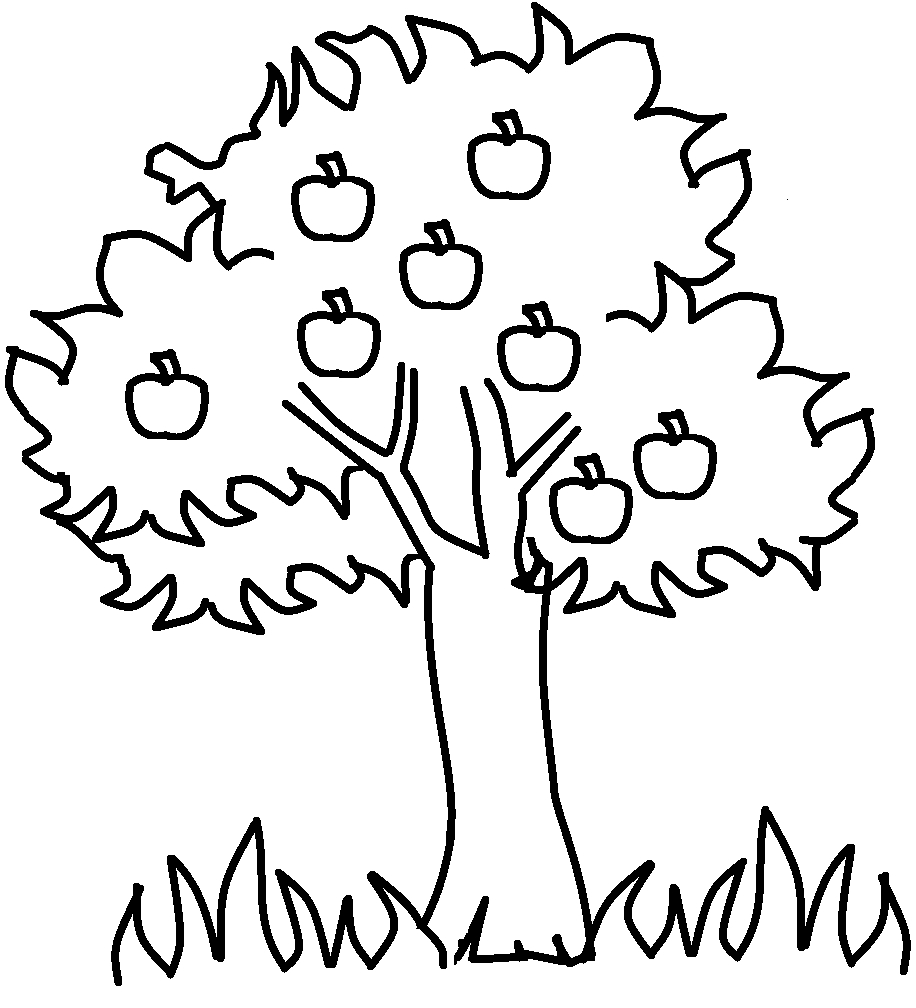 Free Printable Apple Coloring Pages For Kids | For The Kids - Tree Coloring Pages Free Printable