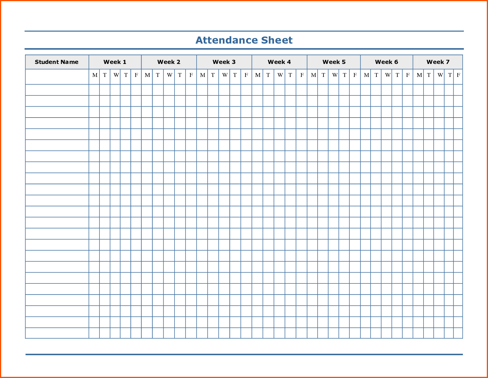 Free Printable Attendance Forms For Teachers – Jowo - Free Printable Attendance Forms For Teachers