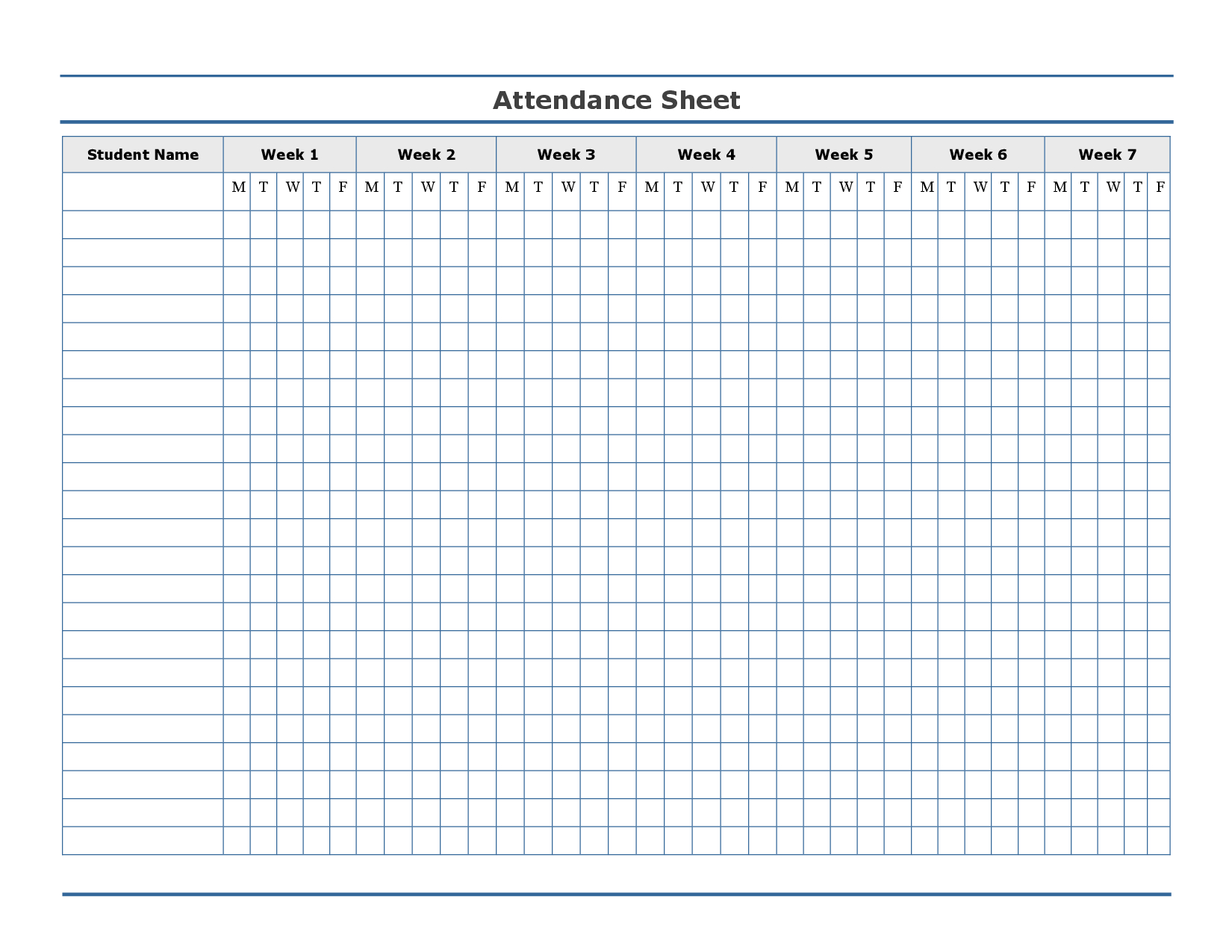 Free Printable Attendance Sheet Template … | Education | Attendance - Free Printable Attendance Sheets For Homeschool