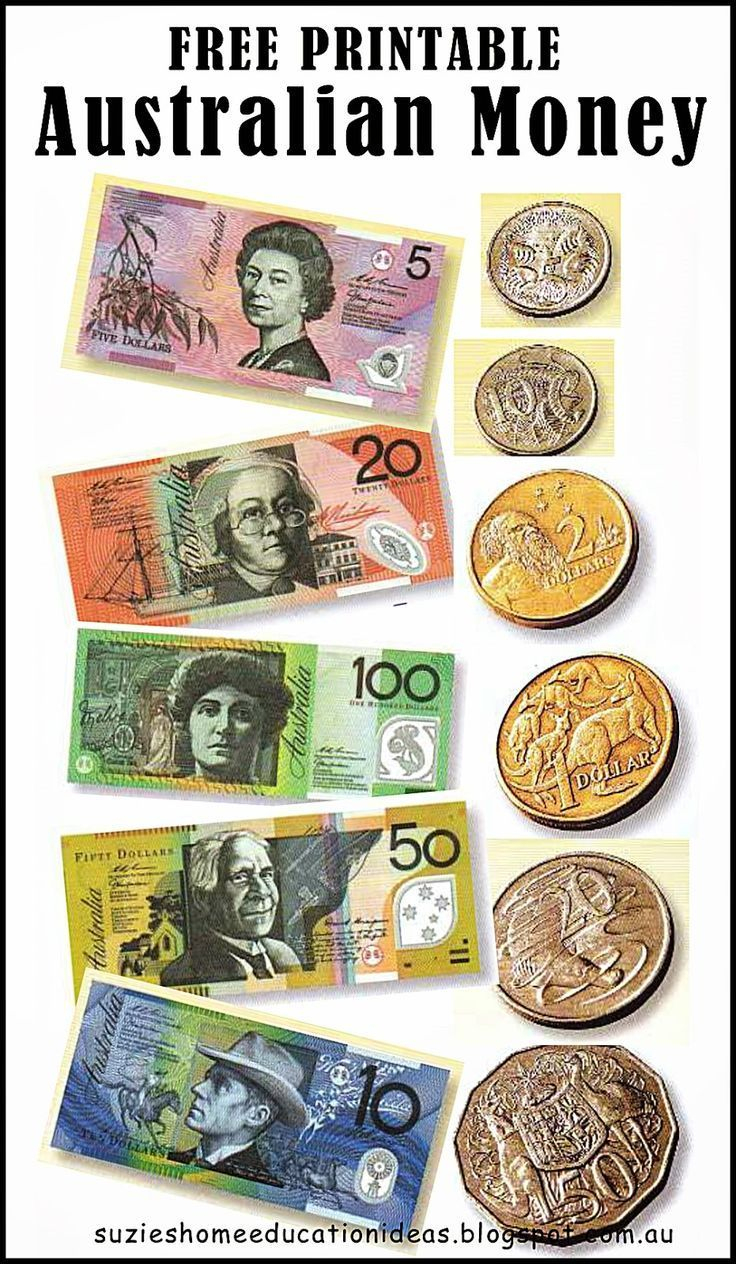 Free Printable Australian Money (Notes & Coins) Would Be Great For - Free Printable Money Worksheets Australia