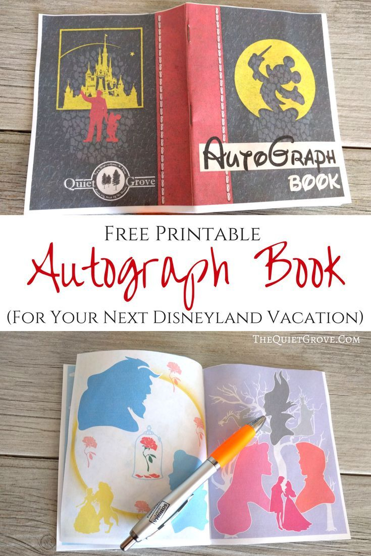 Free Printable Autograph Book For Your Next Disney Vacation | Cricut - Free Printable Autograph Book For Kids