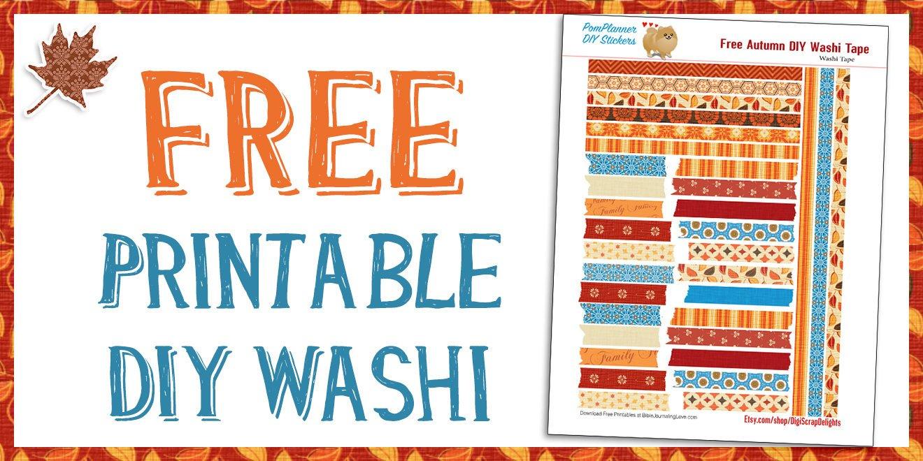 Free Printable Autumn Washi Tape – Bible Journal Love - Free Printable Washi Tape