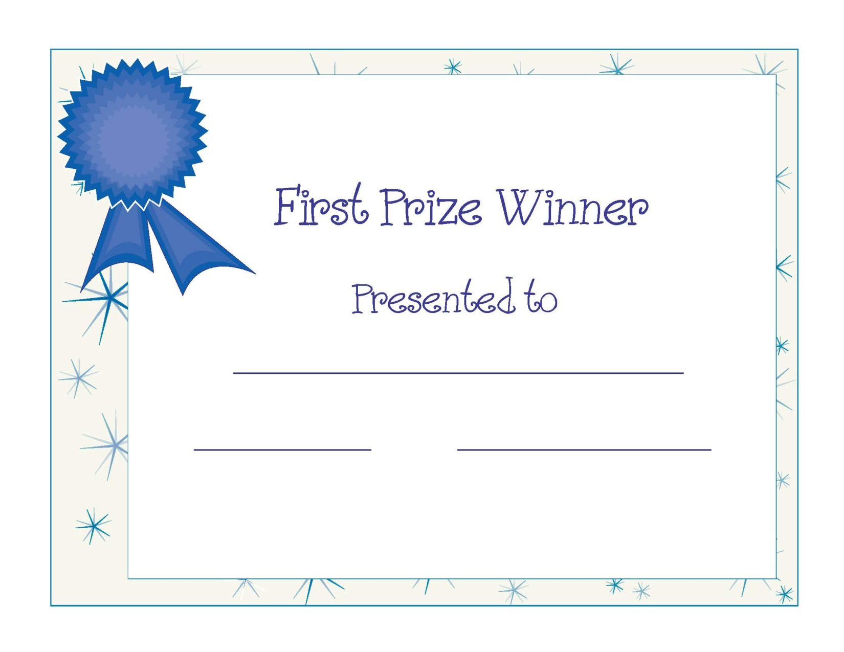 Free Printable Award Certificate Template   Free Printable First - Free Printable Award Certificates