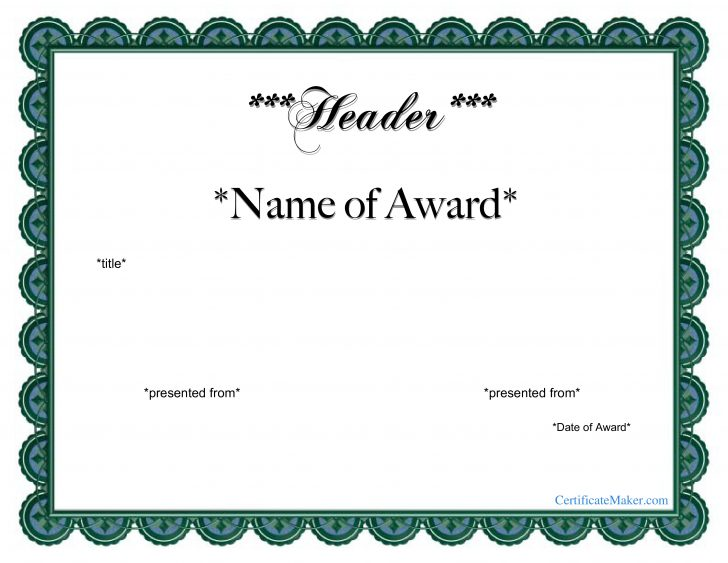 Free Printable Certificate Templates