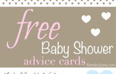 Free Printable Baby Advice Cards