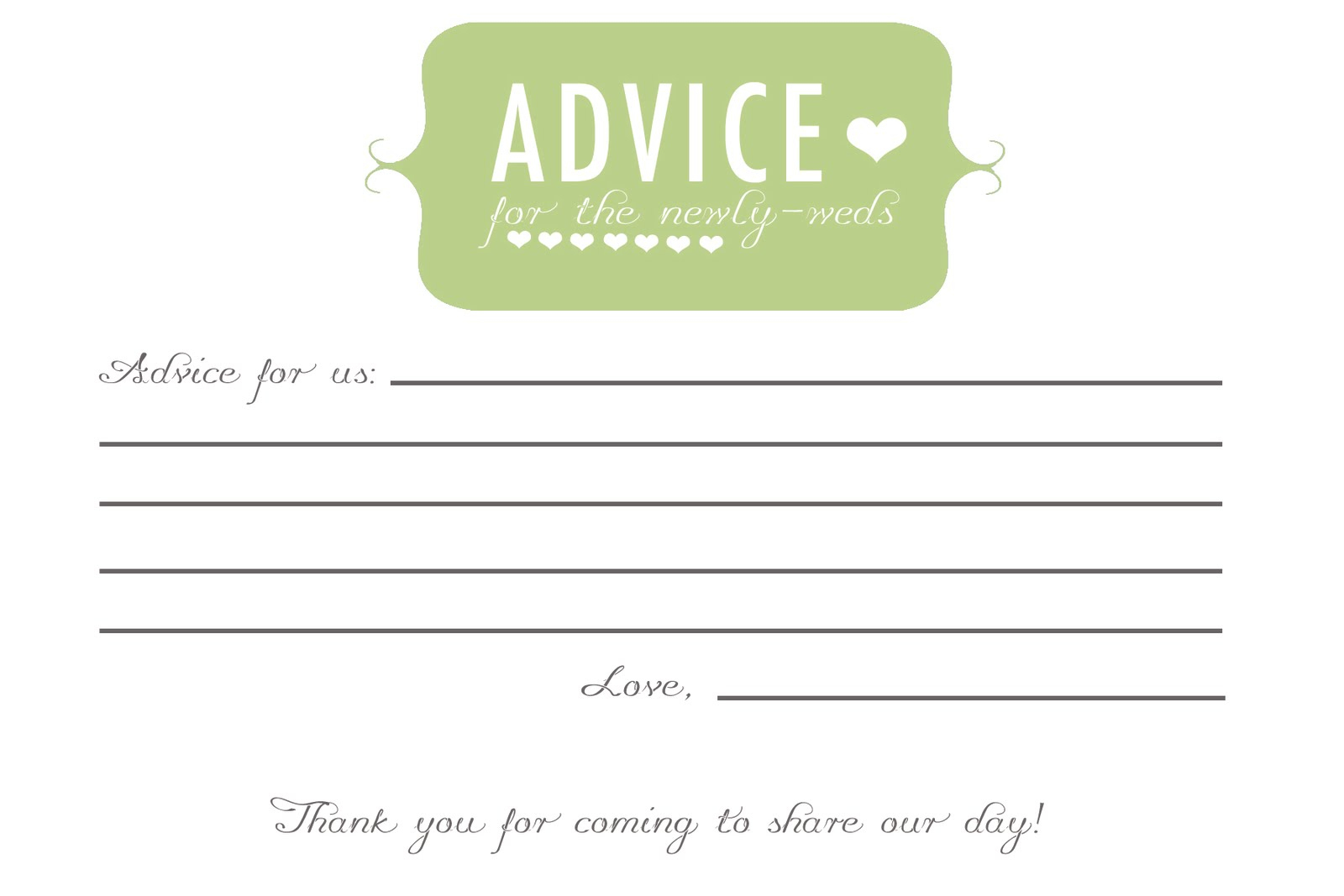Free Printable Baby Shower Advice Cards - Baby Shower Ideas - Free Printable Baby Advice Cards