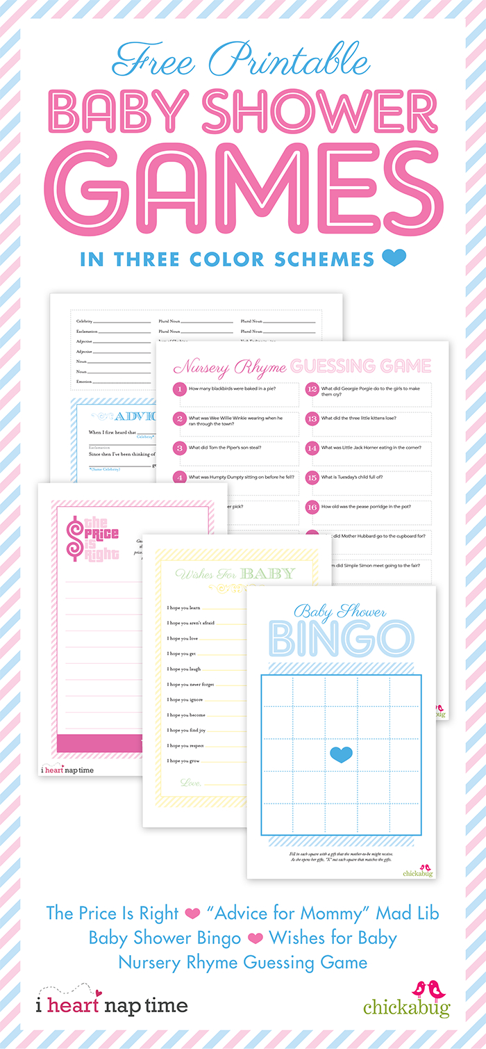 Free Printable Baby Shower Games {With I Heart Nap Time} | Chickabug - Free Printable Baby Shower Games With Answer Key
