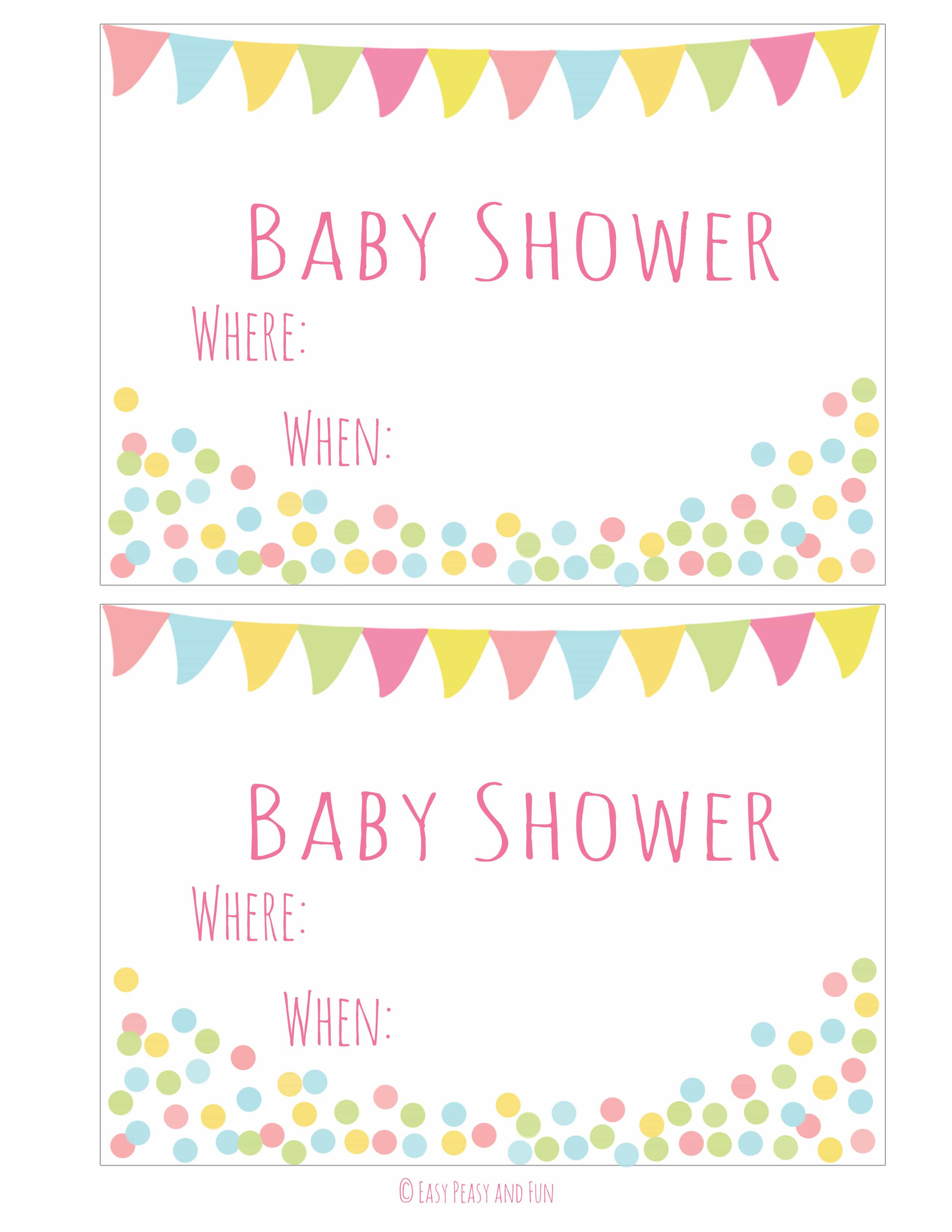 Free Printable Baby Shower Invitation - Easy Peasy And Fun - Baby Shower Templates Free Printable
