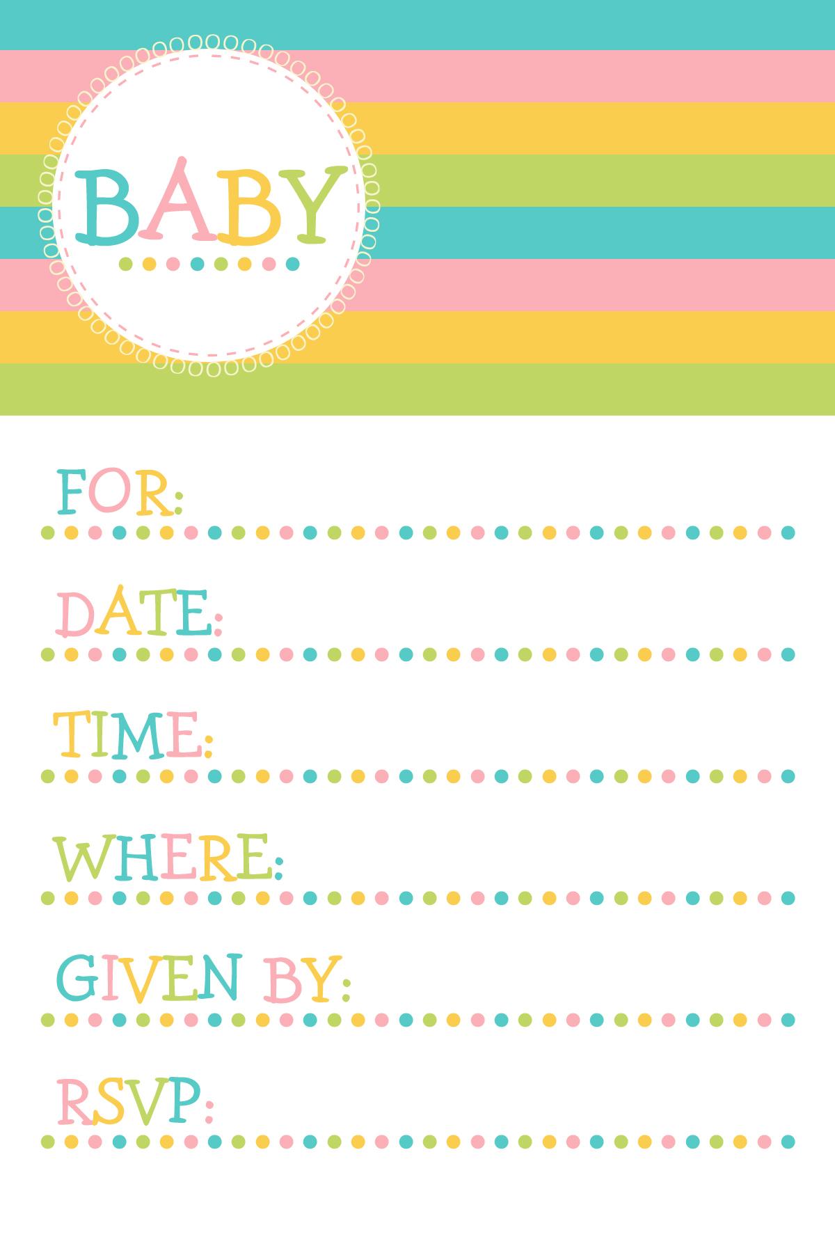 Free Printable Baby Shower Invitations – Cupcake Clipart - Free Printable Baby Shower Clip Art