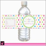 Free Printable Baby Shower Labels For Bottled Water Amazing Polka   Free Printable Baby Shower Labels For Bottled Water